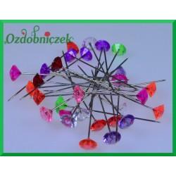 Szpilki długie z kolorowymi diamencikami