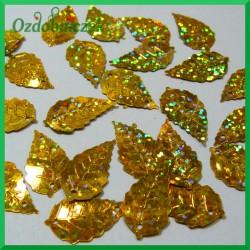 Cekiny listki 5g około 50szt. złote