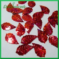 Cekiny listki 13mm/5g czerwone