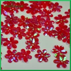Cekiny kwiatuszki 15mm/5g czerwone opalizujące