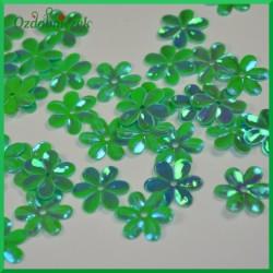 Cekiny kwiatuszki 15mm/5g zielone opalizujące
