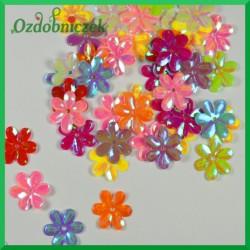 Cekiny kwiatuszki 15mm/5g mix kolorów opalizujące