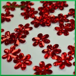 Cekiny kwiatuszki 15mm/5g laserowe czerwone