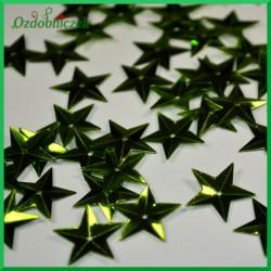 Cekiny gwiazdki wypukłe 15mm/5g zielone