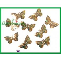 Konfetti holograficzne motyle 23mm/15g złote