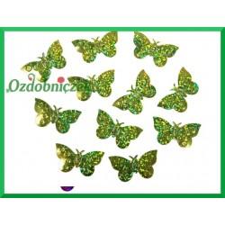 Konfetti holograficzne motyle 23mm/15g zielone
