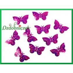 Konfetti holograficzne motyle 23mm/15g różowe