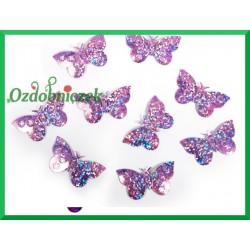 Konfetti holograficzne motyle 23mm/15g jasne różowe