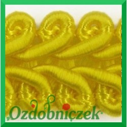 Taśma pleciony wężyk 1mb żółta