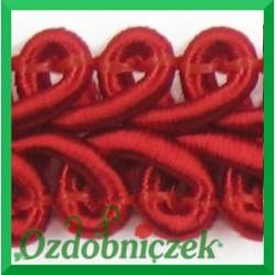 Taśma pleciony wężyk 1mb czerwona