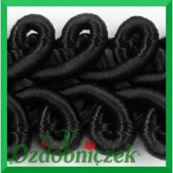 Taśma pleciony wężyk 1m czarna