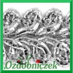 Taśma pleciony wężyk 1m srebrna metalizowana