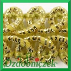 Taśma pleciony wężyk 1m kremowo-złota metalizowana