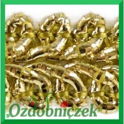 Taśma pleciony wężyk 1m złota metalizowana