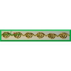 Taśma ślimaczki 1mb złota metalizowana