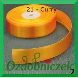 Tasiemka satynowa 25mm curry 21 SZTYWNA