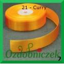 Wstążka tasiemka satynowa 25mm curry 21 SZTYWNA