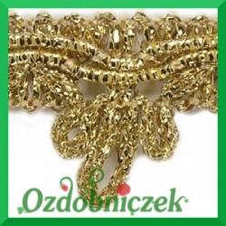 Taśma kokardka 1mb złota metalizowana