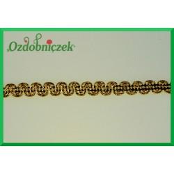 Taśma dekoracyjna wąż złoty 11mm/1mb