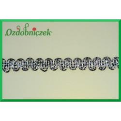 Taśma dekoracyjna wąż srebrny 11mm/1mb