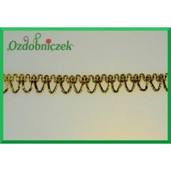 Taśma dekoracyjna łancuszek złoty 10mm/1mb