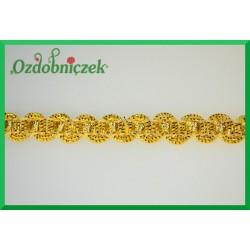 Taśma dekoracyjna wąż złoto-kremowy 8mm/1mb
