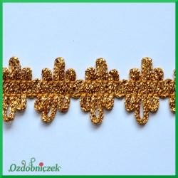 Taśma dekoracyjna szlaczek postrzępiony złoty 20mm/1 mb