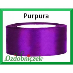 Tasiemka satynowa 25mm kolor - purpura