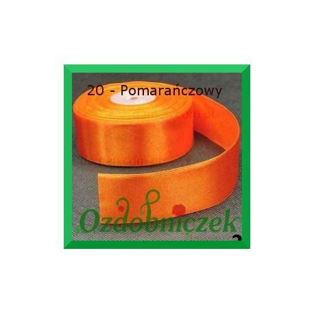 Tasiemka satynowa 25mm pomarańczowa 20 SZTYWNA