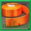 Wstążka tasiemka satynowa 25mm pomarańczowa 20 SZTYWNA