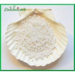 Perełki dekoracyjne 3mm/7gr białe