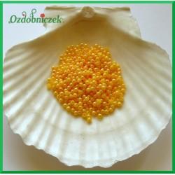Perełki dekoracyjne 3mm/7gr żółte opalizujące