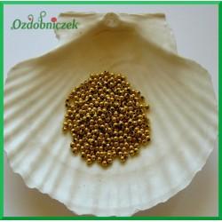 Perełki dekoracyjne 3mm/7gr złote