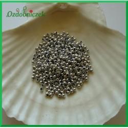 Perełki dekoracyjne 3mm/7gr srebrne