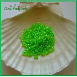 Perełki dekoracyjne 3mm/7gr zielone opalizujące