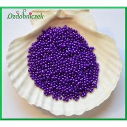 Perełki dekoracyjne 3mm/7gr fioletowe perłowe