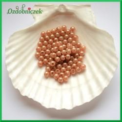 Perełki 6mm/7g brązowe perłowe