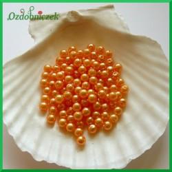 Perełki 6mm/7g pomarańczowo złote