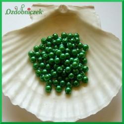 Perełki 6mm/7g ciemno zielone