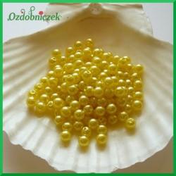 Perełki 6mm/7g żółte