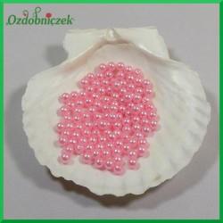 Perełki 6mm duża paczka różowe