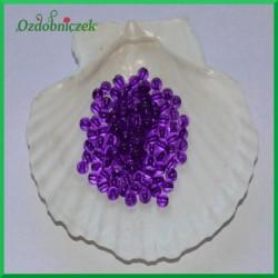 Perełki 6mm duża paczka fioletowe przeźroczyste