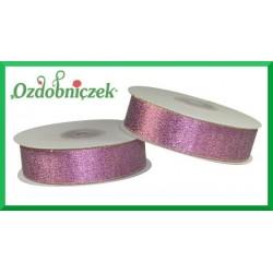 WSTĄŻKA brokatowa KOLOROWA 25mm fioletowa
