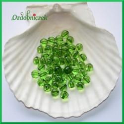 Perełki 8mm zielone przeźroczyste
