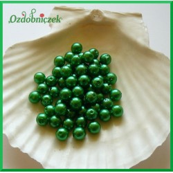 Perełki 8mm duża paczka ciemno zielony
