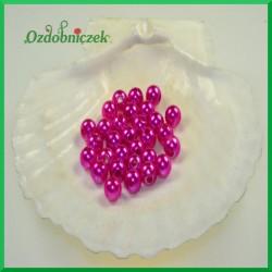 Perełki 8mm duża paczka amarantowe perłowe