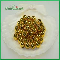 Perełki 10mm złote