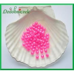 Perełki 6mm duża paczka mocny róż perłowy
