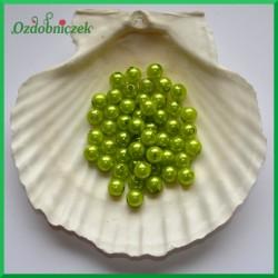Perełki 8mm zgniła zieleń perłowe