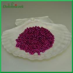 Perełki dekoracyjne 3mm/7gr różowe metaliczne